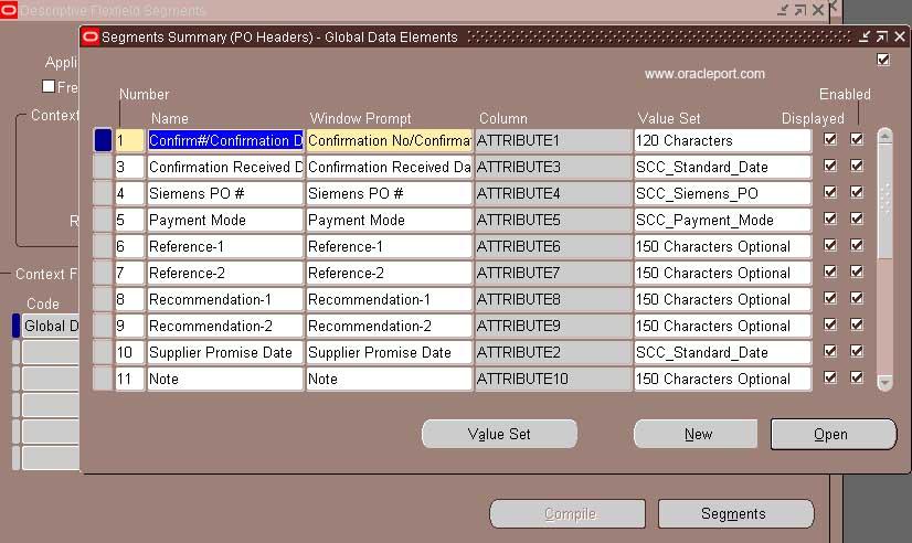 Configuring / Creating Descriptive Flexfield - OraclePort com