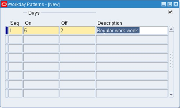 Oracle Apps Inventory - Build a Workday Calendar with